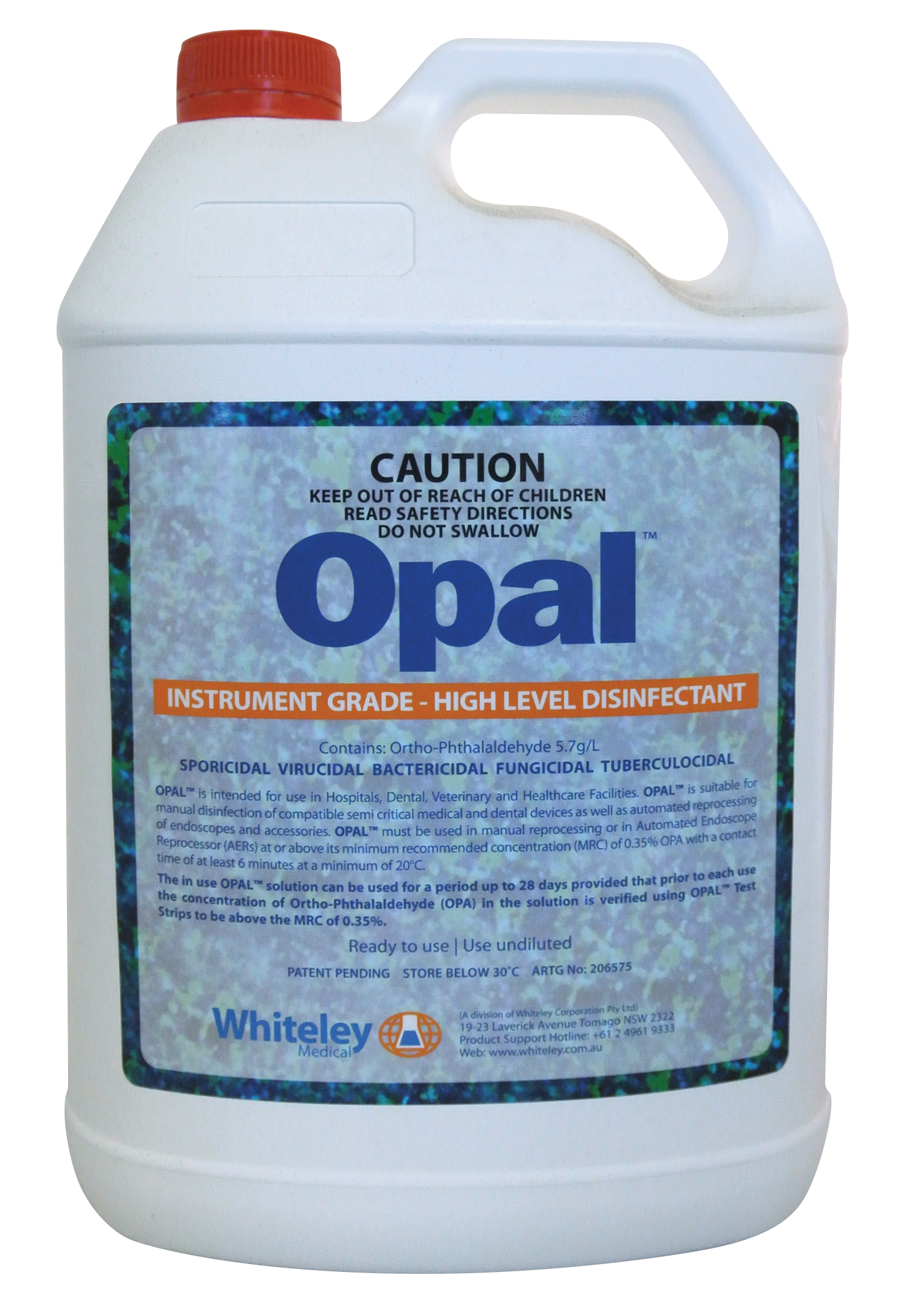 Opal Opa Disinfectant 5 Ltr Hickey Co