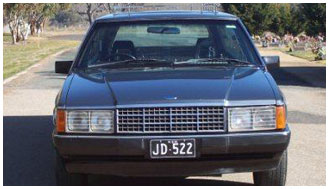 1983 XE FORD GREY HEARSE