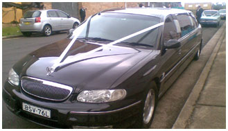 Black Holden Caprice Stretch Limousine