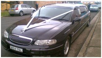 Black Holden Caprice Stretch Limousine